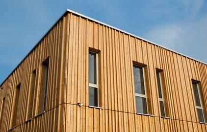 Fassadenansicht Holzhaus