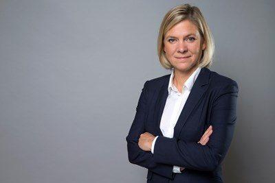 Porträt der schwedischen Finanzministerin Magdalena Andersson