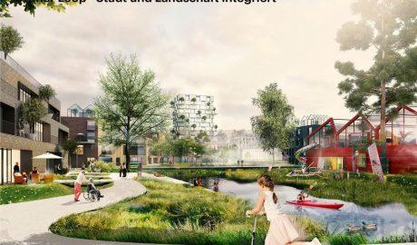 Visualisierung des Entwurfs für den neuen Hamburger Stadtteil Oberbillwerder