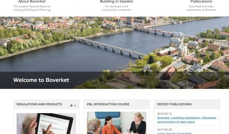 Screenshot der Homepage von buildinginsweden.se