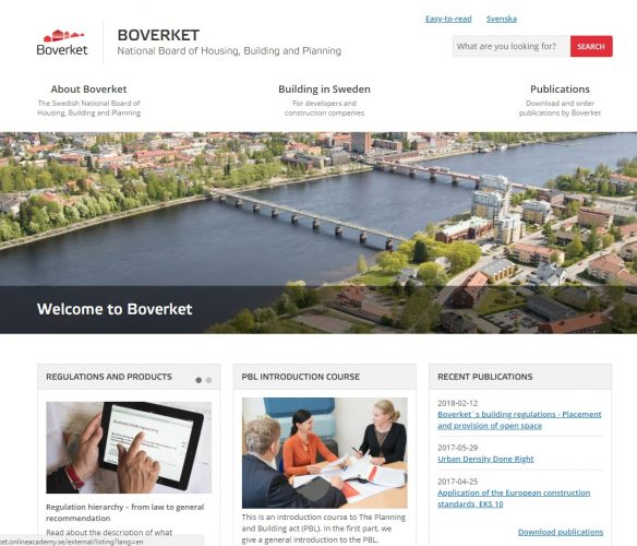 Screenshot der Homepage von buildinginsweden.se