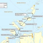 Illustration der Festlandverbindung Nordøyvegen