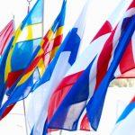 Flaggen der Mitgliedsländer des Nordischen Ministerrates