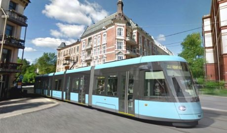 Die neue Straßenbahn in Oslo