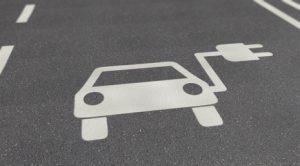 Symbol eines Elektroautos