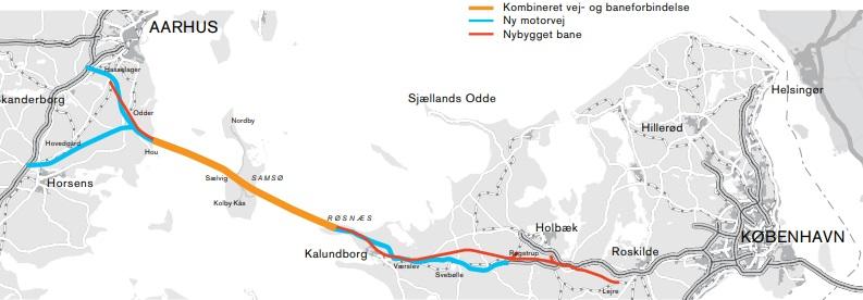 Karte mit eingezeichneter Kattegat-Querung