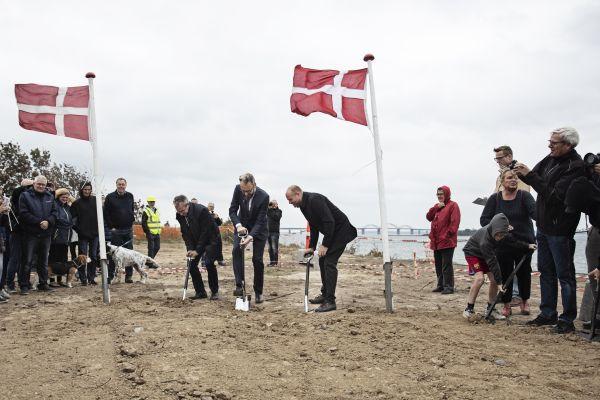 Ground-breaking ceremony Storstrømbrücke