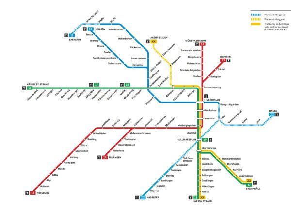 Plan der neuen Metrolinien