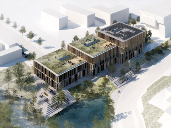 Illustration des zukünftigen Science & Innovation Hub an der Universität Aarhus