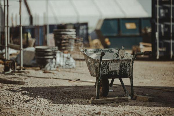 Archivbild einer Baustelle