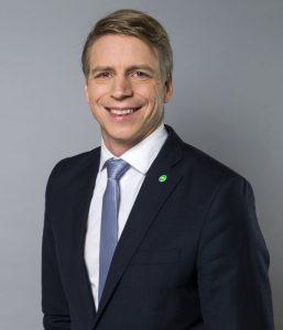 Porträt des Wohnungsbauministers Per Bolund
