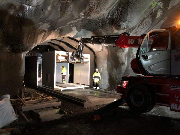 Verwendung von Foamrox-Material im Tunnelbau