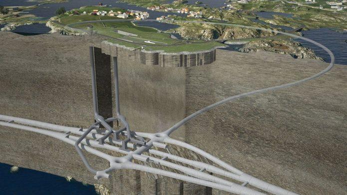 Illustration des Kvitsøy-Tunnels