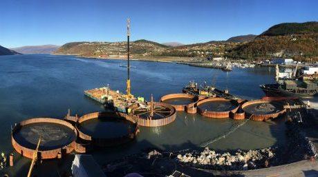 Bild der Baustelle in Mosjøen