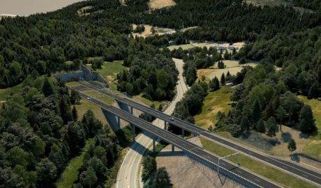 Illustration einer Brücke der neuen E16