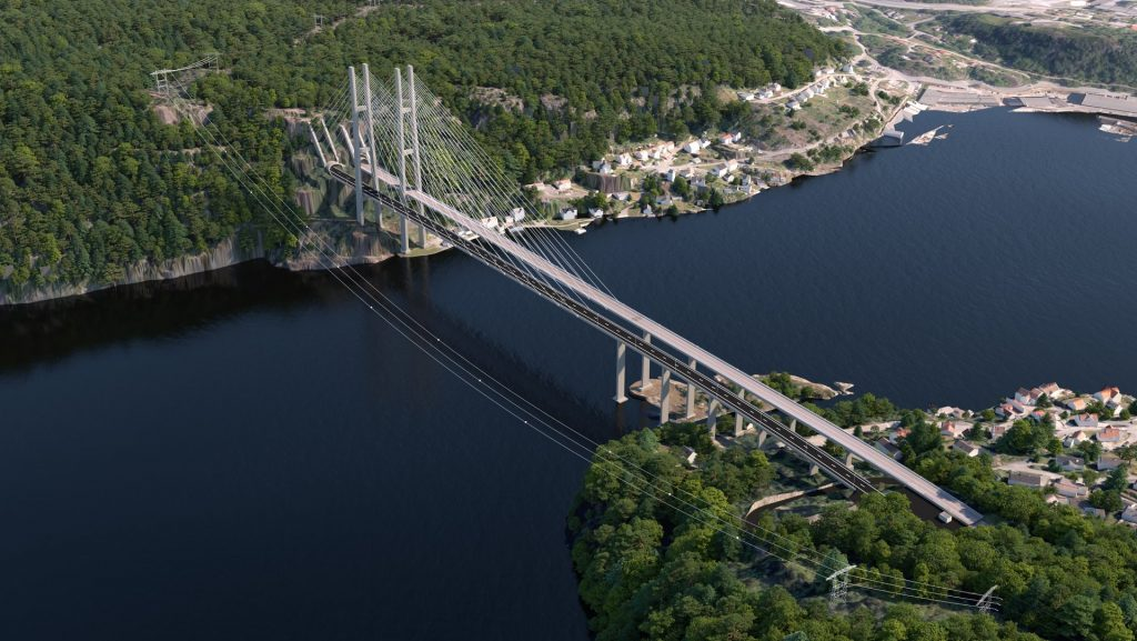Illustration der neuen Grenlandsbrücke