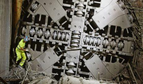 Frontansicht einer Tunnelbohrmaschine