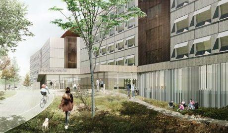 Illustration des Nyt Hospital Bispebjerg