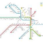 Darstellung des U-Bahn-Streckennetzes in Stockholm