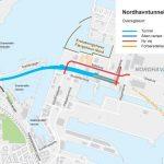 Karte des Nordhavntunnelprojekts