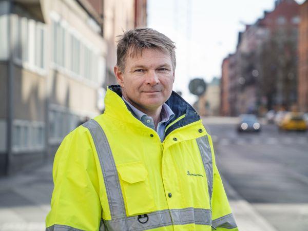 Porträt des Verwaltungschefs von Nya Tunnelbanan, Niklas Bergman