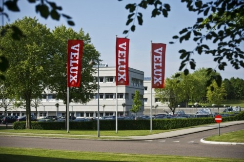Das Gebäude, in dem der Hauptsitz von Velux ist