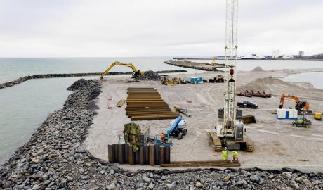 Baustelle des Tunnelportals für die Feste Fehmarnbeltquerung