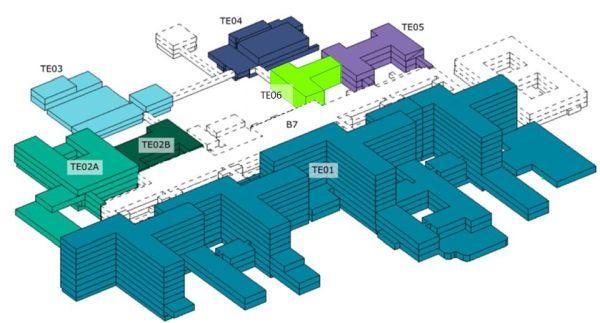 Skizze des neuen Krankenhauses Køge