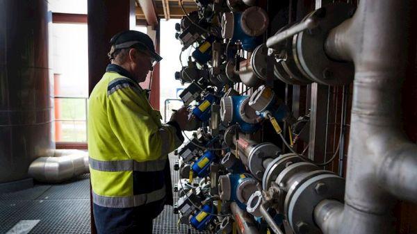 Biogasanschlüsse in den Fabriken von Rockwool