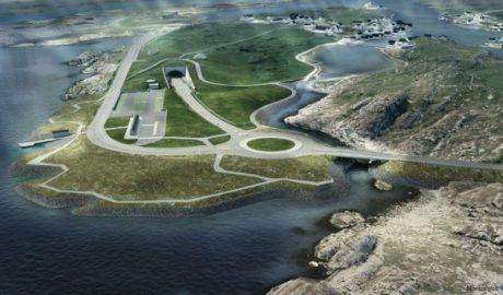 Illustration der Tunneleinfahrt auf Kvitsøy