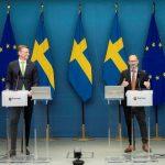 Per Bolund und Tomas Eneroth präsentieren den Infrastrukturplan