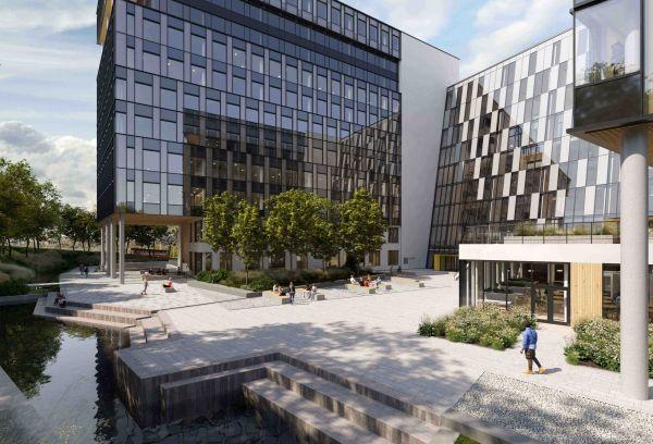 Illustration eines Gebäudes von Construction City.