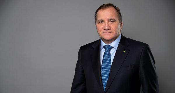 Porträt des schwedischen Ministerpräsidenten Stefan Löfven