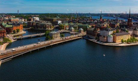Luftbild von Stockholm