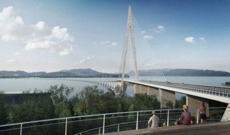 Brücke über den Bjørnafjord, Illustration