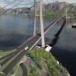 Illustration der Brücke über den Julsund