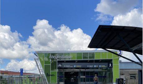 Visualisierung der U-Bahn-Station Älvsjö
